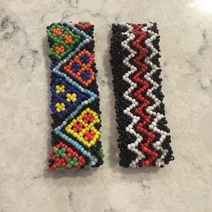 Beaded pattern bracelets